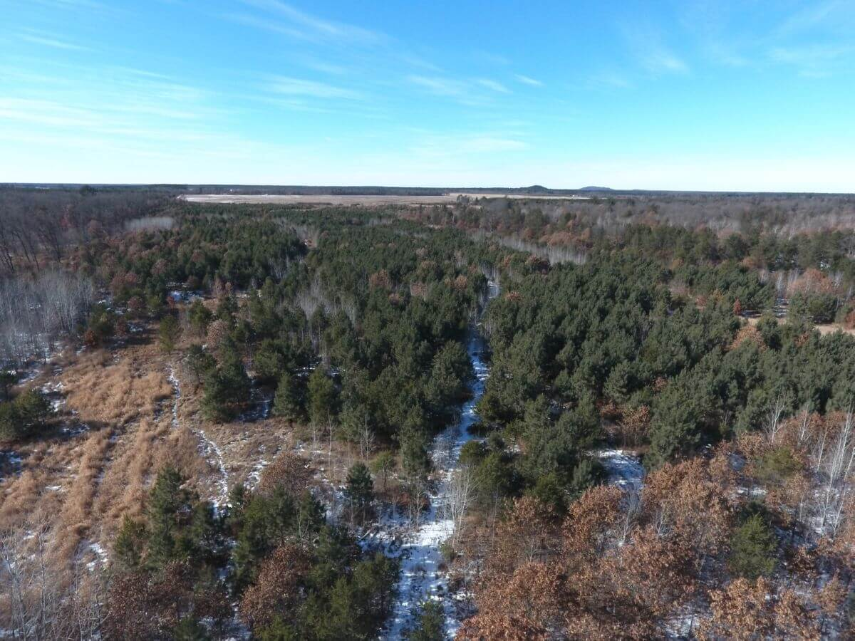 60 acres of mixed landscape Adams County WI