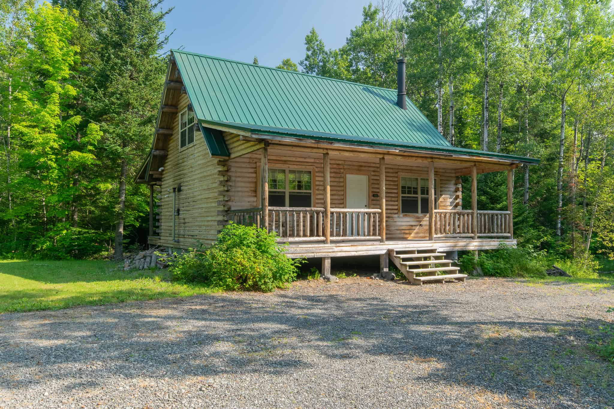 Log Home for Sale Maine