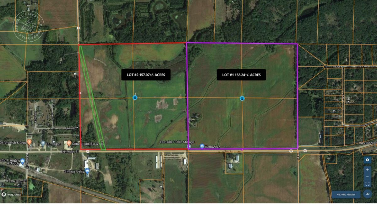 315 Marquette County Farm Land & Home Auction