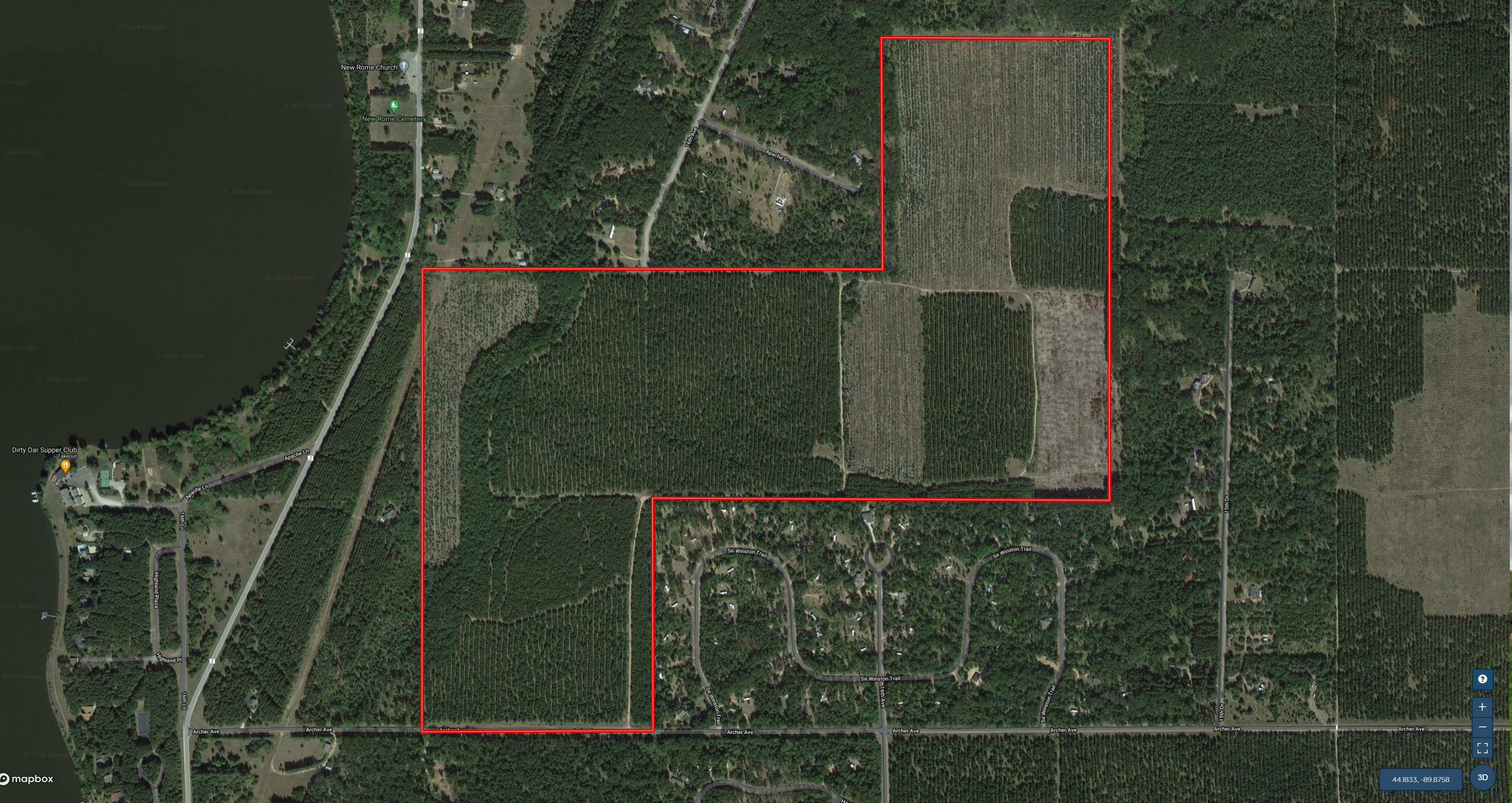 203+ acre Timberland hunting tract located in Adams County