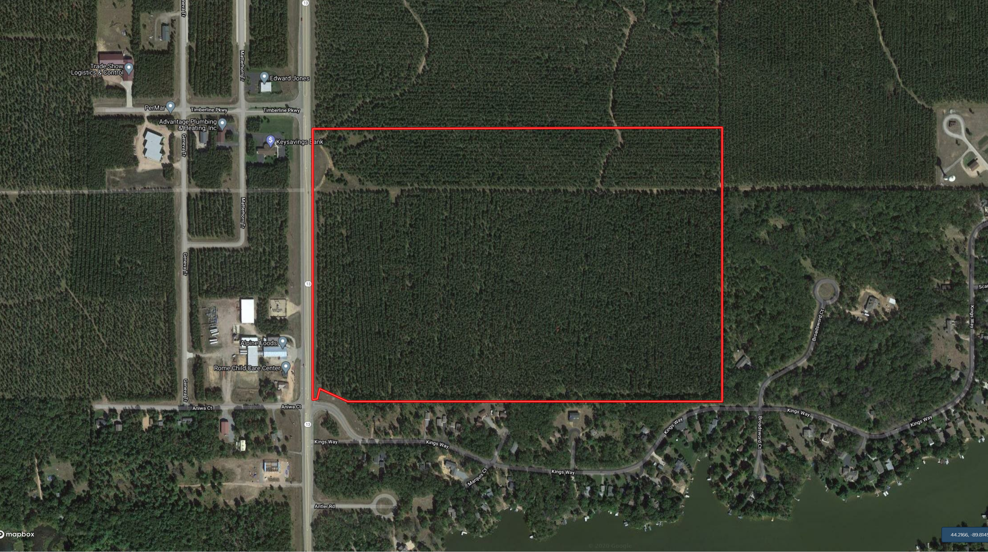 Town of Rome 100 acre timber Tract for sale in Adams County WI