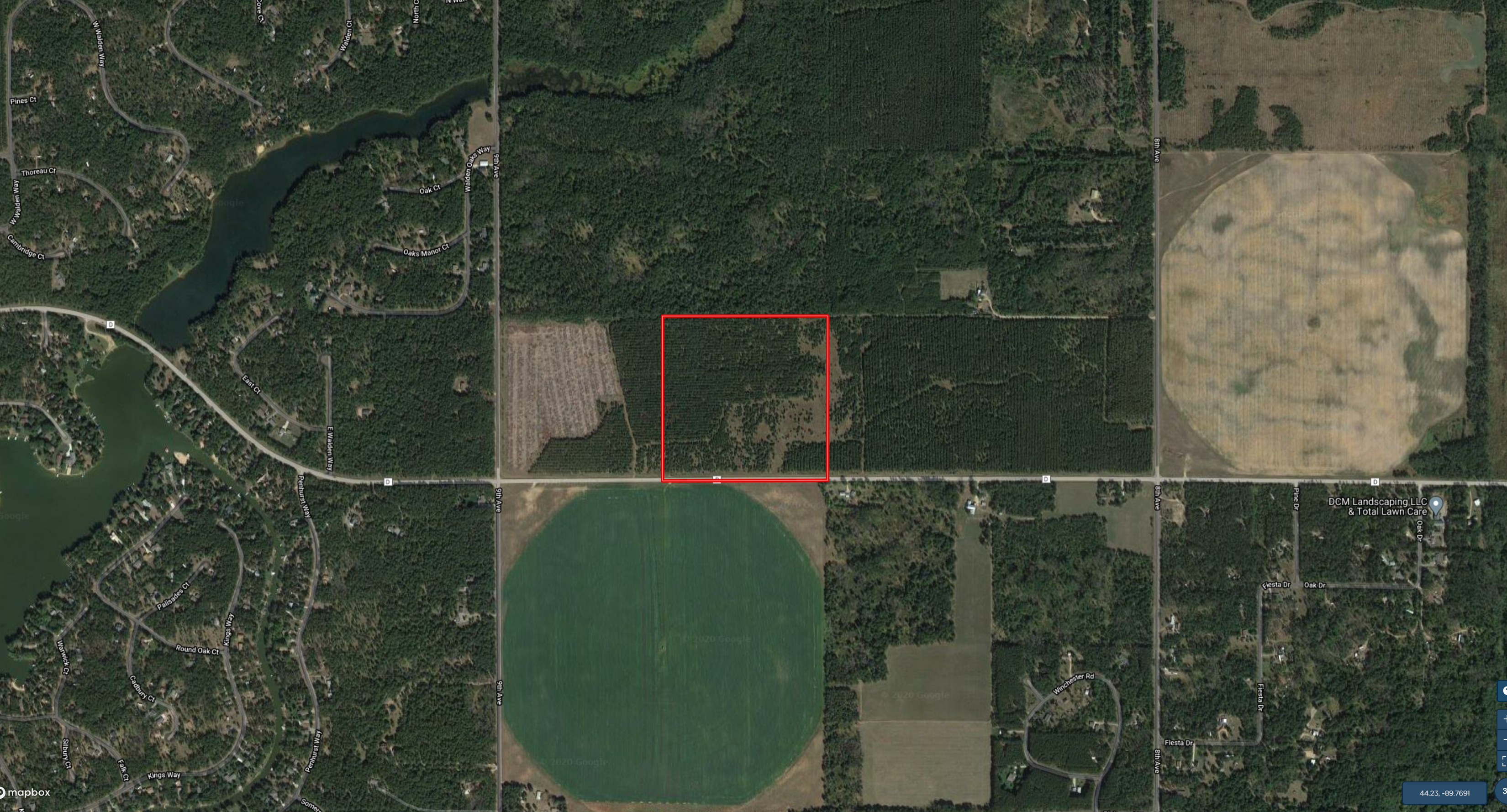 Town of Rome 120 acre timber lot for sale in Adams County WI