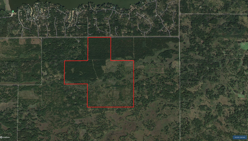 240 acre timber and hunting property for sale in Central Wisconsin