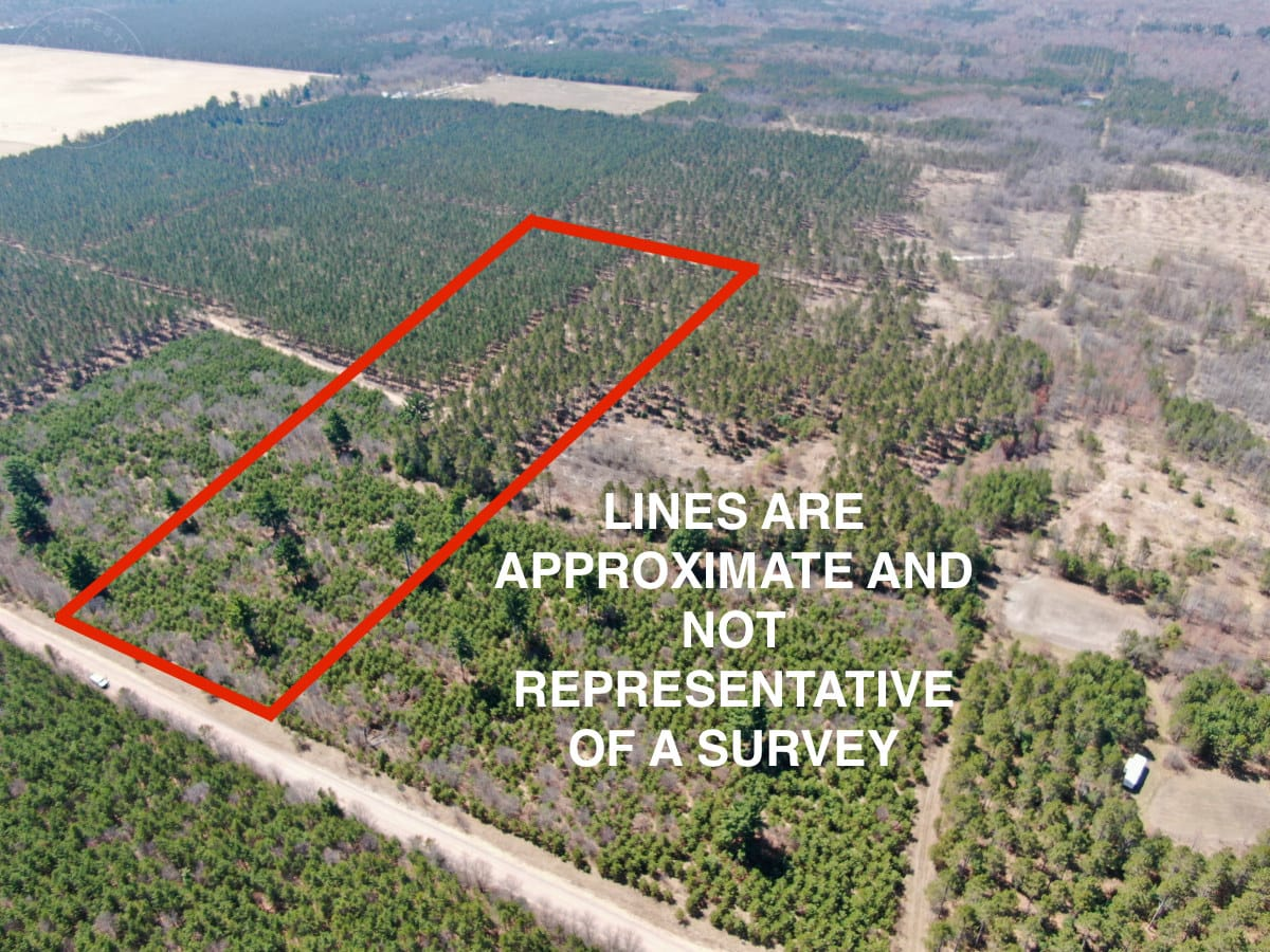 Town of Big Flats 22.354 acre timber lot for sale in Adams County WI